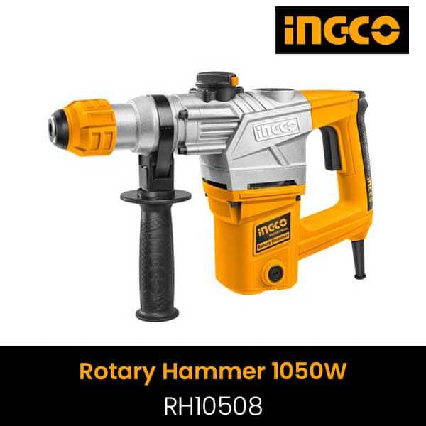 INGCO - Rotary Hammer, 3 Drills, 2 Chisels BMC Packed - RH10508
