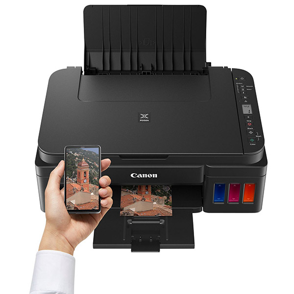 CANON Colour Inkjet Printer - Cont. Ink Supply - Print, Copy & Scan - PIXMA G3411
