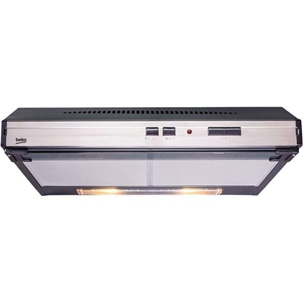 BEKO Cassette Cooker Hood 60cm 4 Speeds Halogen Lighting CFB 6433 X