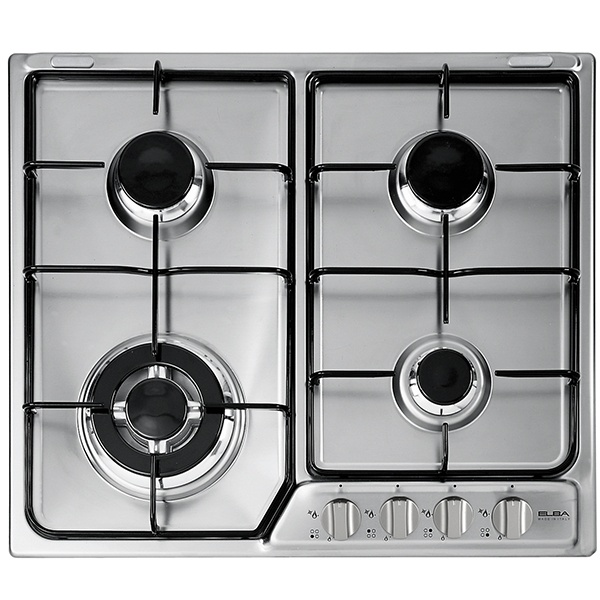 ELBA Gas Hob Stainless Steel 60 cm Flame Safe EF60-440X