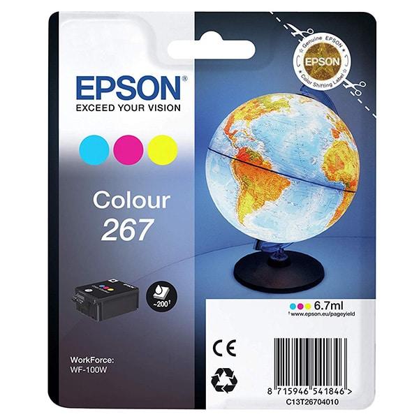EPSON Singlepack Colour 267 Ink Cartridge for WF-100W