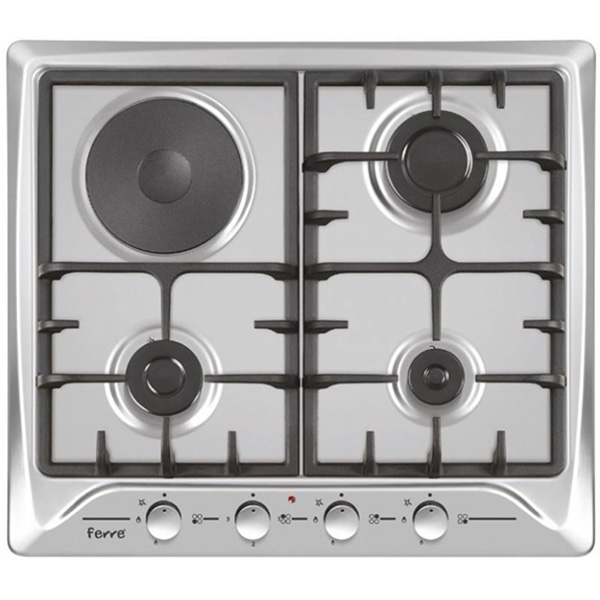 FERRE Built-In Hob, 4 Gas Stainless Steel Body