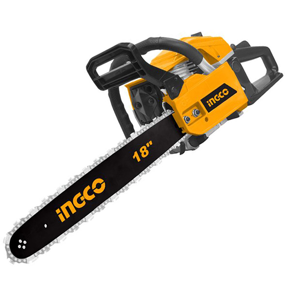 INGCO - Gasoline Chain Saw 1.8 KW, 3200 RPM, 445 MM - GCS45185
