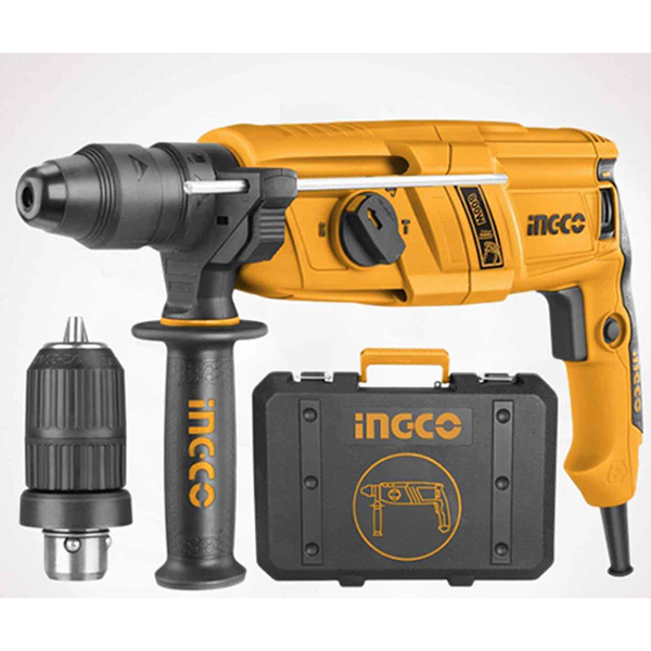 INGCO - Rotary Hammer With 3 Drills And 2 Chisels - RGH9018