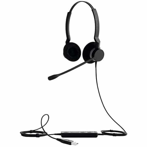 JABRA BIZ 2300 Duo MicroUSB Noise-Cancelling Headset