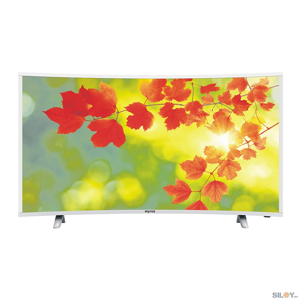 """MYROS 55"""" Curved Television 4K Smart Android TV"""
