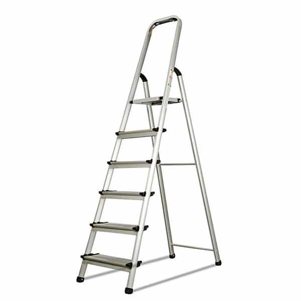 SILOY 6 Steps Stable Ladder (Aluminium Body)