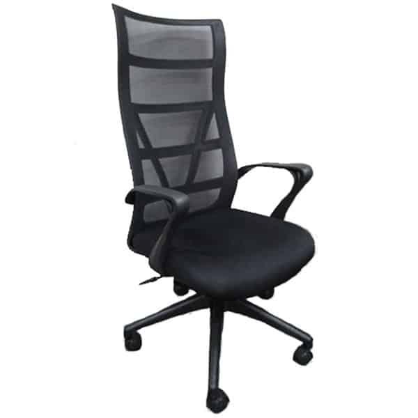 SILOY Furniture - Office Comfort Black Pivot Chair - MS212GATL