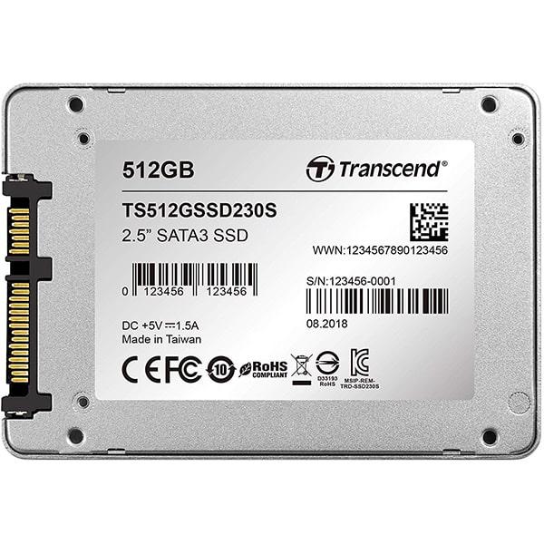 """TRANSCEND 512GB SSD Disk Sata III 2.5"""" TS512GSSD230S"""