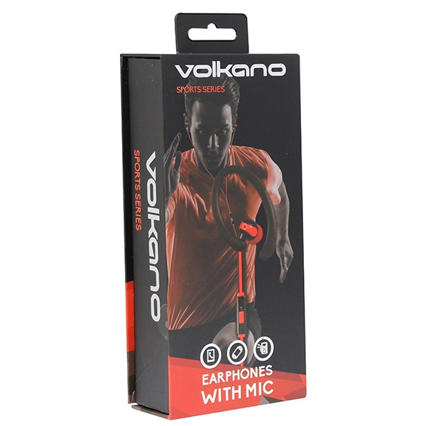 VOLKANO Earbuds - Haste Series - Sports Hook, Running Pouch & MIC