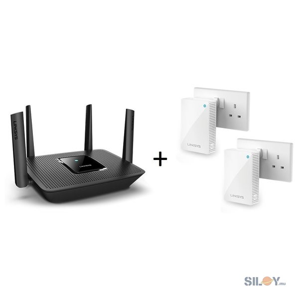 Linksys Tri-Band Mesh WiFi Router & 2 Velop Plug-In Nodes MR8300