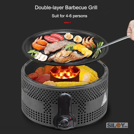 Round Charcoal Grill Coal 1