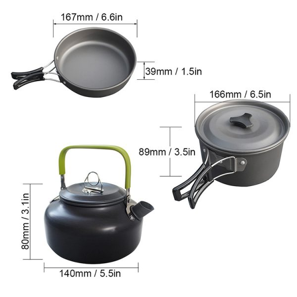 10 in 1 Camping Cooker Set